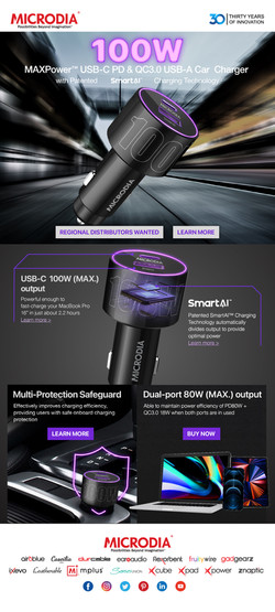 MICRODIA MAXPower Car Charger