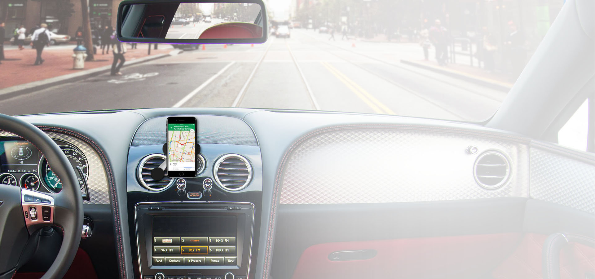 MICRODIA Smart 360 Car Mount - Protect Your Mobile from Direct Airflow