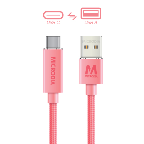 USB-C_to_USB-A - Rose Gold