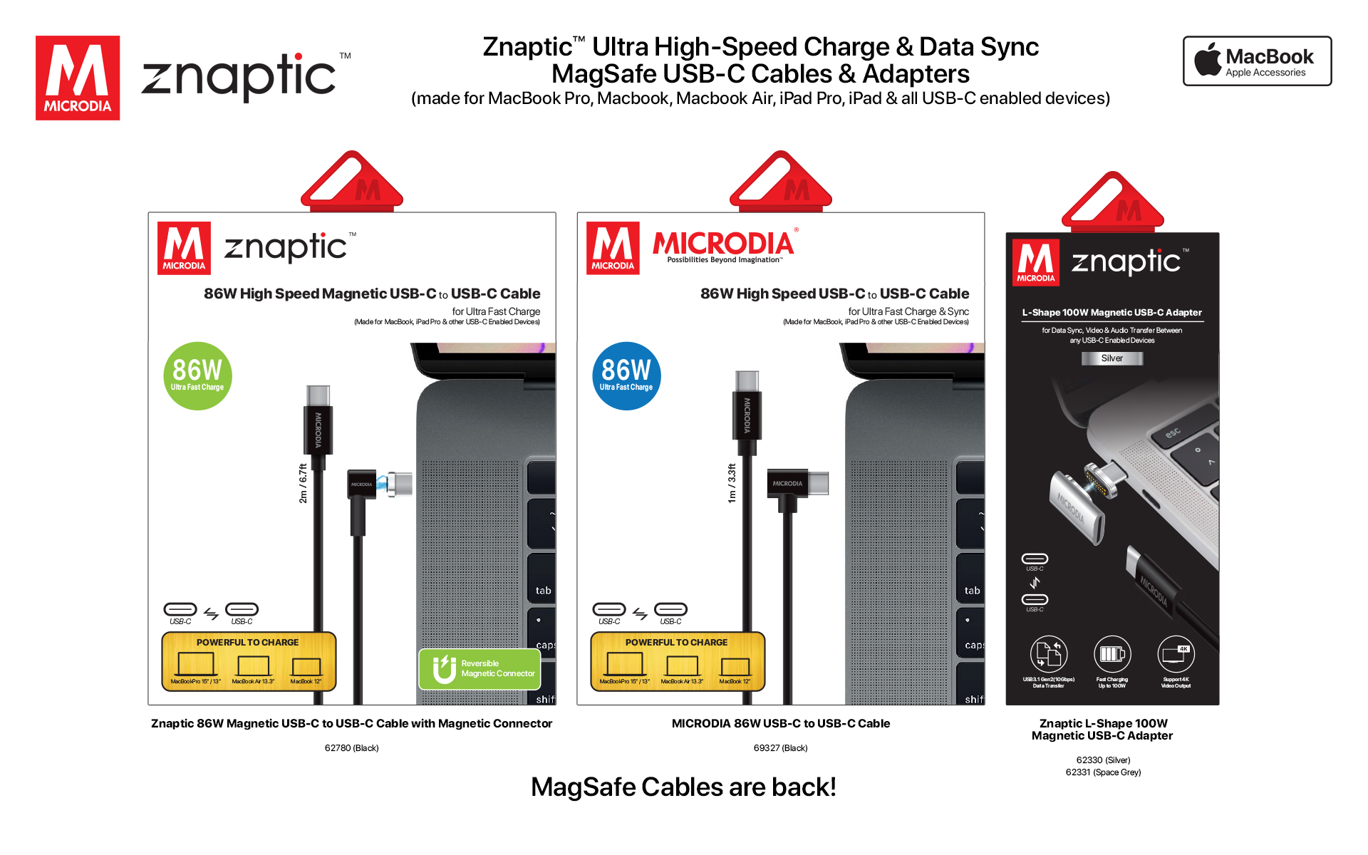 3. Znaptic Magsafe Cable