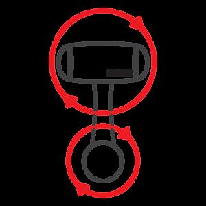 MICRODIA Smart 360 Car Mount - 360 Head & Body Rotation