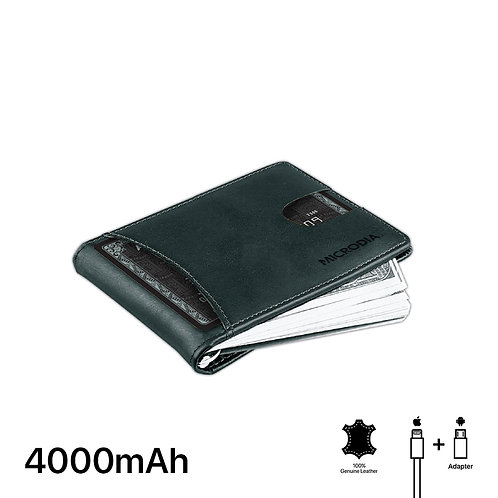 TEXAS - Leather Passport Holder with Card Case + 4000mAh Power Bank