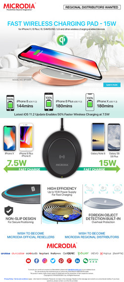 15W Wireless Charging Pad for Optima