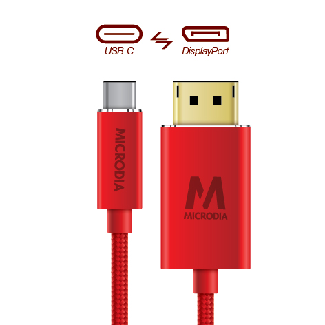 USB-C_to_Displayport - Product Red