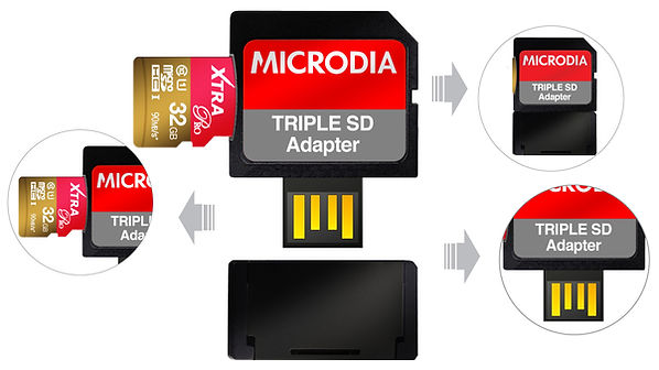 MICRODIA Triple SD Adapter