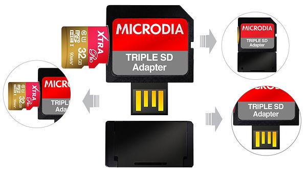 MICRODIA Triple SD Adapter