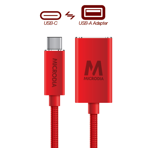 USB-C_to_USB-A Adapter - Product Red