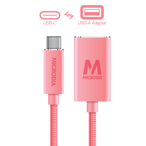 USB-C_to_USB-A Adapter - Rose Gold