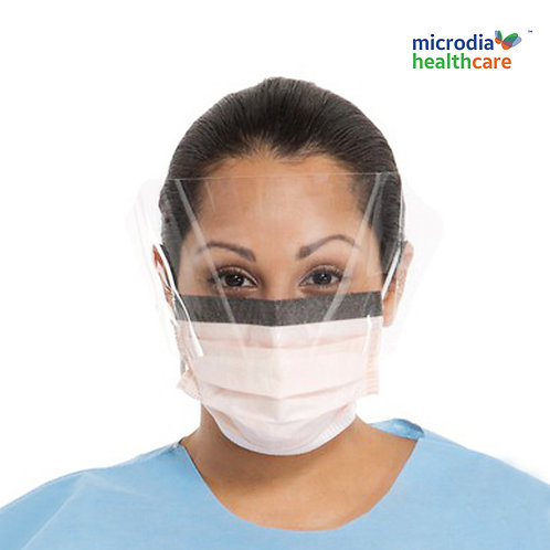 Face Shield with facial tissue inner layer