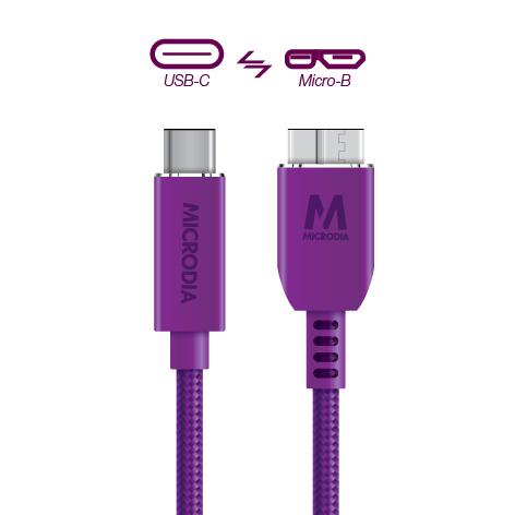 USB-C_to_MicroB - Purple