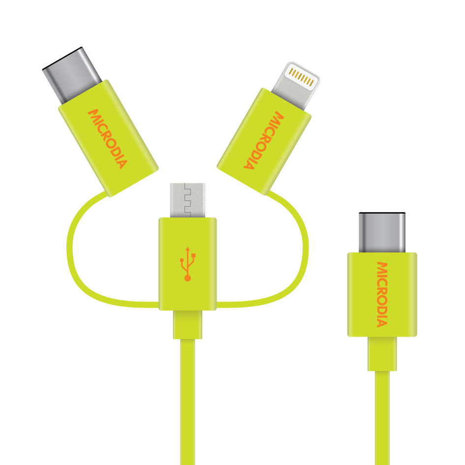 Fruitywire 3in1 USB-C Cable