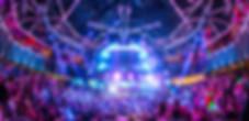 Music Fans Crowd with big DJ Stag in a 'HAKKASAN' Nightclub