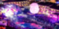 Music Fans Crowd with big DJ Stage in a 'Ushuaia Ibiza' Nightclub