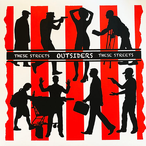 """HR077 OUTSIDERS """"These Streets"""" ART DAMAGE"""