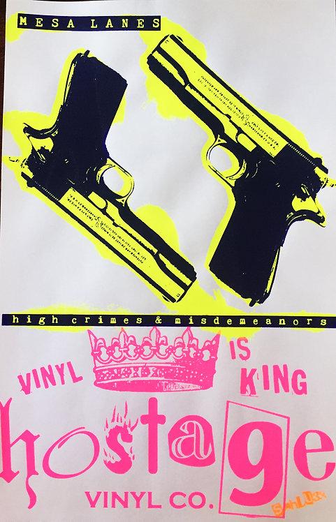 """MESA LANES """"high crimes"""" Sahlugg poster"""