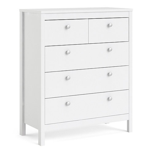 Madrid Chest 3+2 drawers in White