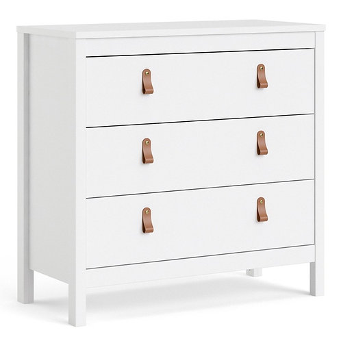 Barcelona Chest 3 drawers in White
