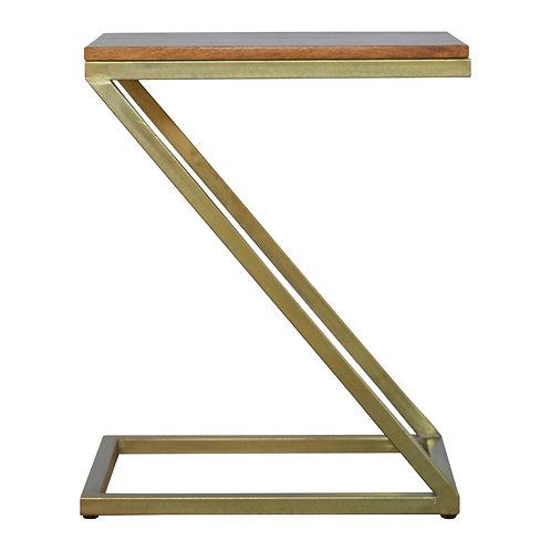 Z-shaped Golden Side Table