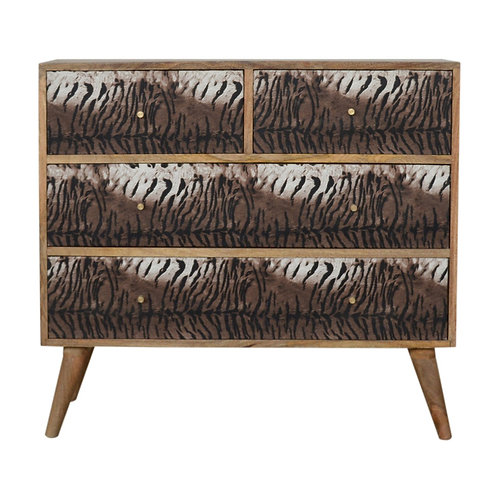 Tiger Drawer Print Chest