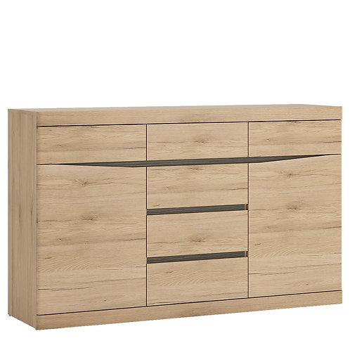 Kensington Living 2 door 3+3 drawer sideboard in Oak