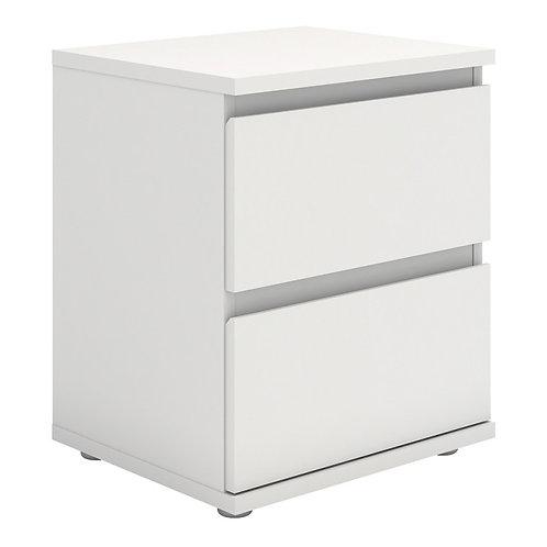 Nova Bedside 2 Drawer in White