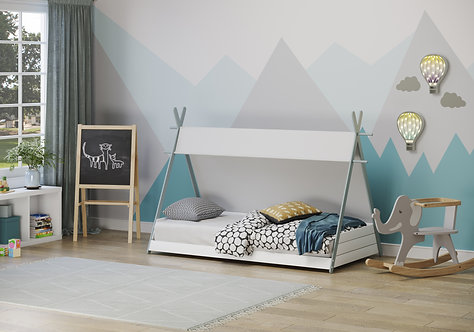 Apache Tipi Bed - Grey and White