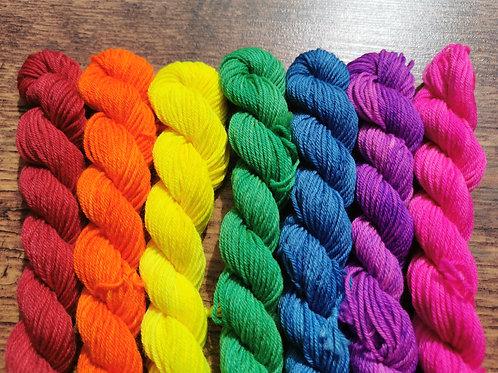 Rainbow Micro Skeins