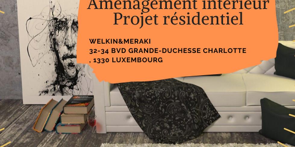 Projet résidentiel, aménagement intérieur