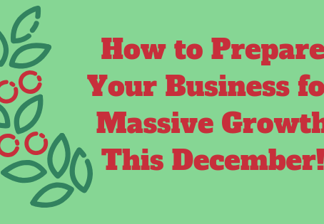4 Tips on How to Prepare for Business Massive Growth This December!