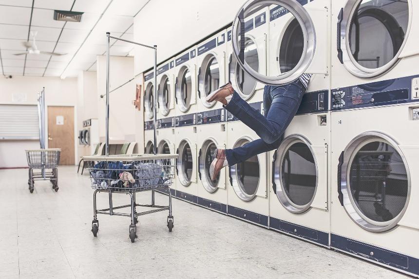 Wäsche waschen Chaos