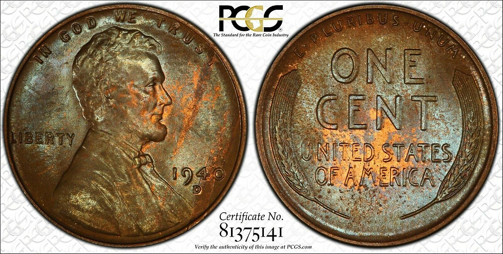 1940-D Lincoln PCGS MS65BN