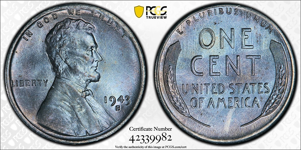 1943-S Lincoln PCGS MS66