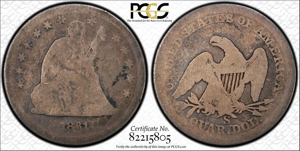 1861-S PCGS AG03