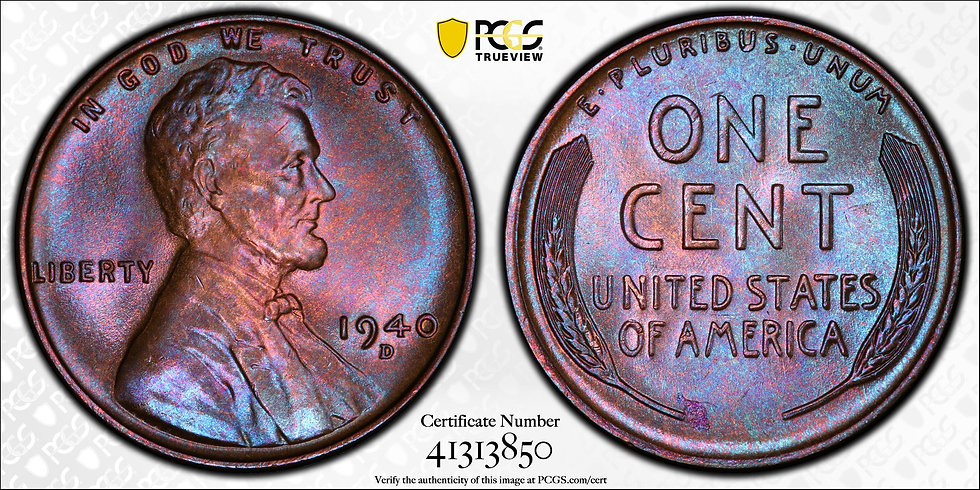 1940-D Lincoln PCGS MS66BN