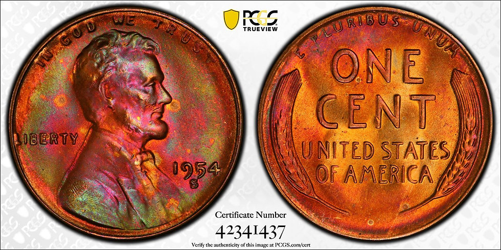 1954-S Lincoln PCGS MS66RB