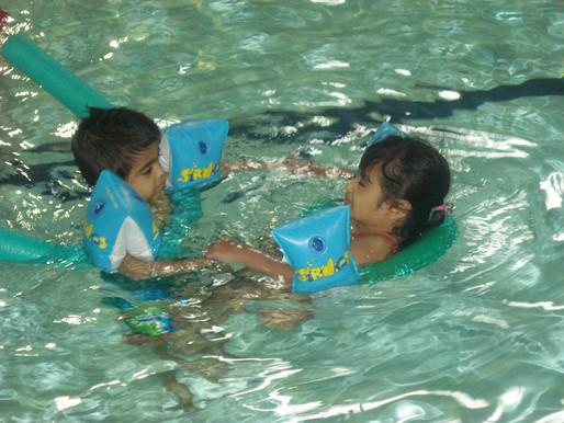 Foundation pupils love their weekly swimming sessions…