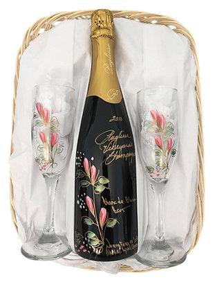 Pink Champagne Basket