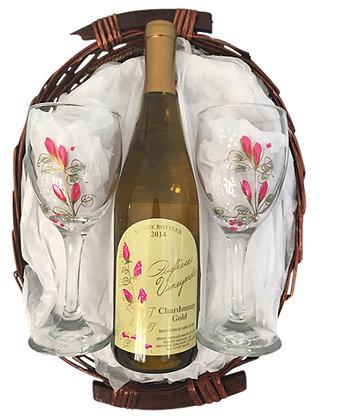 Chardonnay Gold Basket
