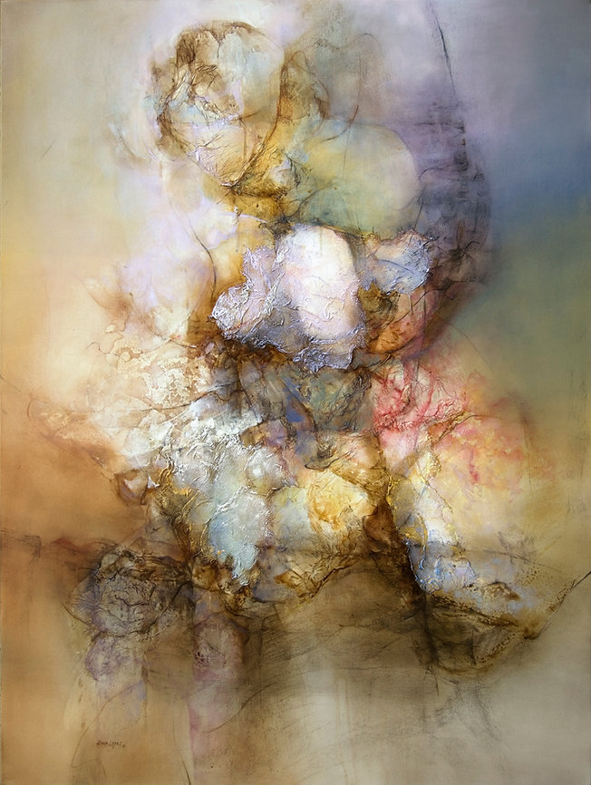 DORA LOPEZ-CAPTIVE 36 X 48 IN   MIXED ME