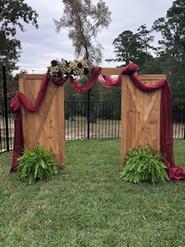 Barn Door Ceremony Backdrop