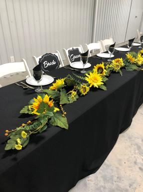 Sunflower Head Table
