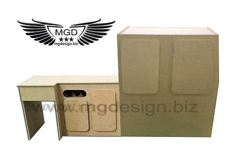 Universal front fridge two door wine rack and rear unit.