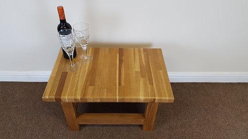 Solid oak top side table
