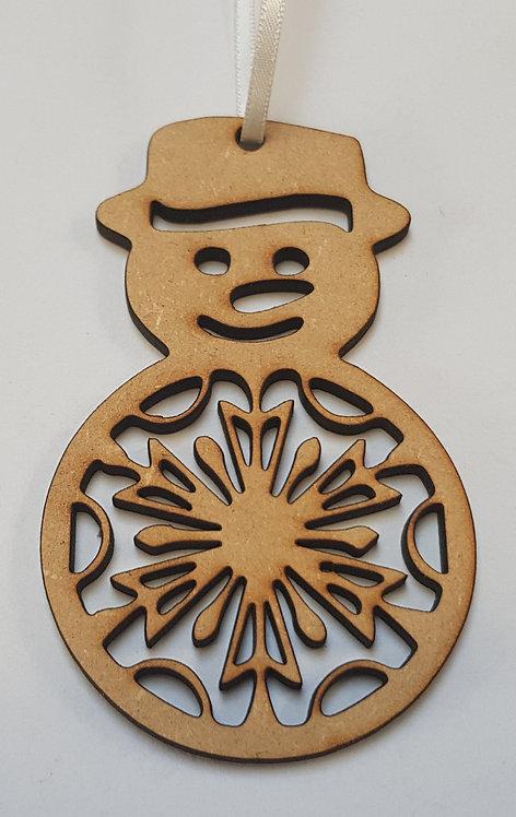 Snow Man Bauble
