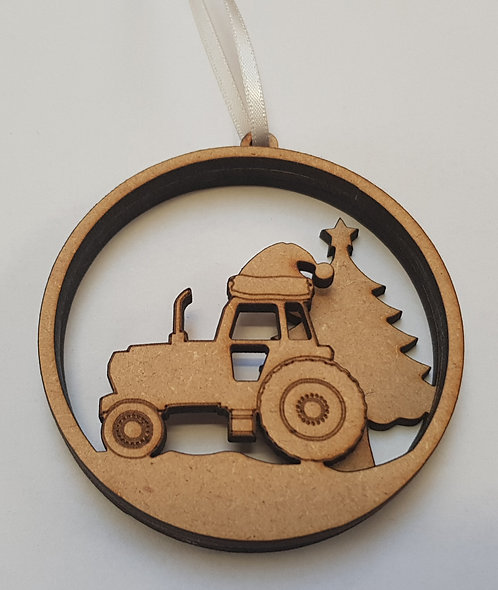 Tractor Bauble