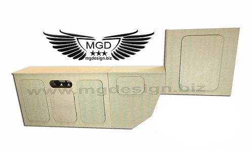 VW T2 front three door wine rack, mid rear unit