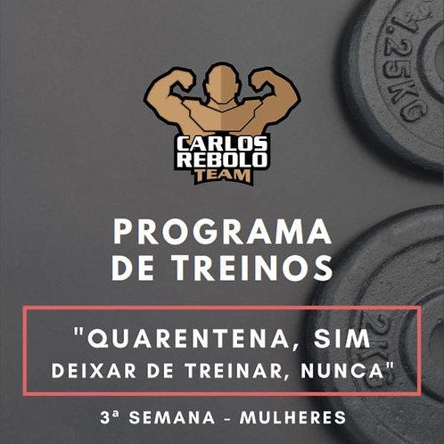 3ª SEMANA TREINO EM CASA | MULHER