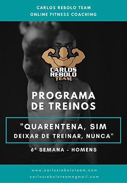 6ª SEMANA TREINO EM CASA   HOMEM
