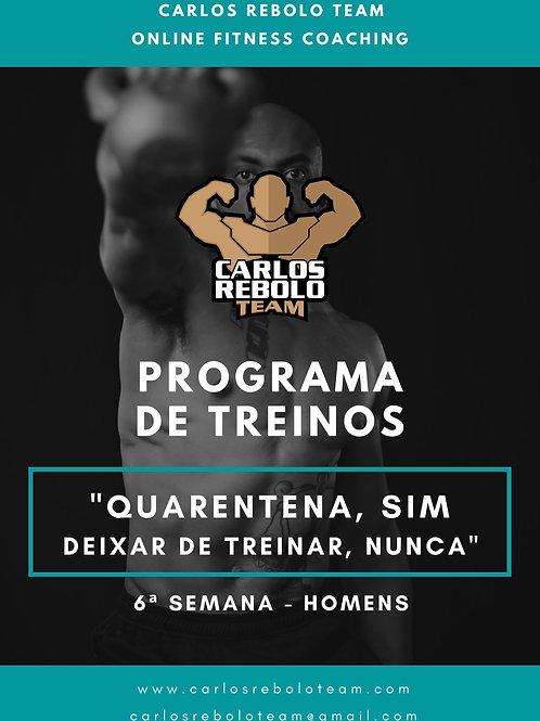 6ª SEMANA TREINO EM CASA | HOMEM