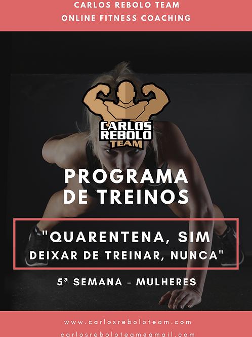 5ª SEMANA TREINO EM CASA | MULHER